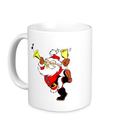 Керамическая кружка Весёлый Дед Мороз
