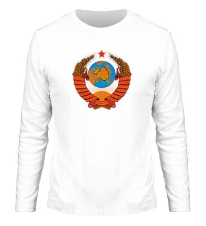 Мужской лонгслив Звездный герб СССР