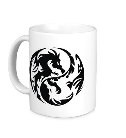 Керамическая кружка Инь-ян драконы