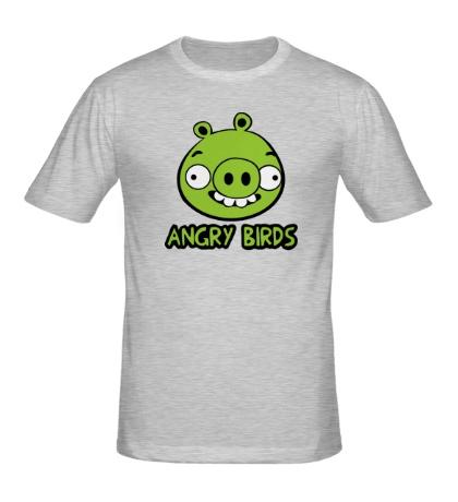 Мужская футболка Anrgy Birds: Green Pig