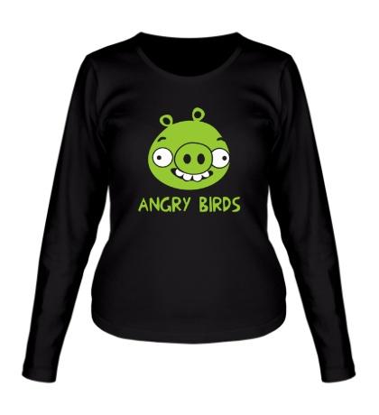 Женский лонгслив Anrgy Birds: Green Pig