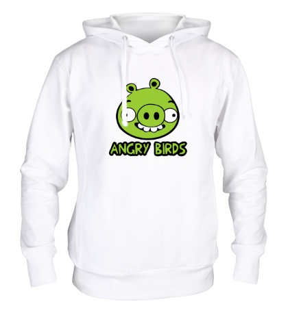 Толстовка с капюшоном Anrgy Birds: Green Pig