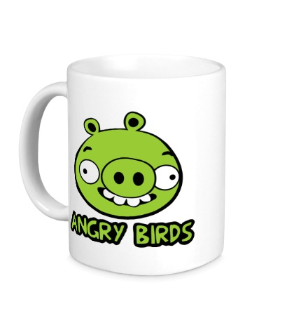 Керамическая кружка Anrgy Birds: Green Pig