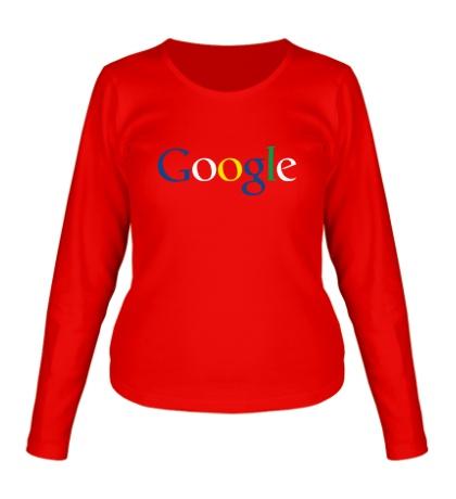 Женский лонгслив Google