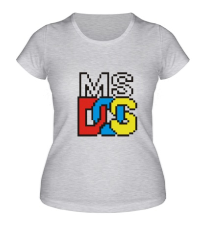Женская футболка MS DOS