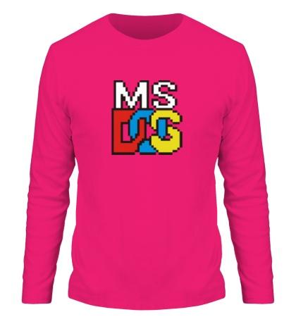 Мужской лонгслив MS DOS