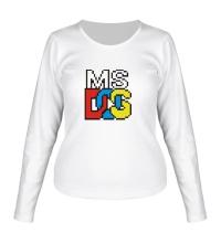 Женский лонгслив MS DOS