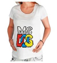 Футболка для беременной MS DOS