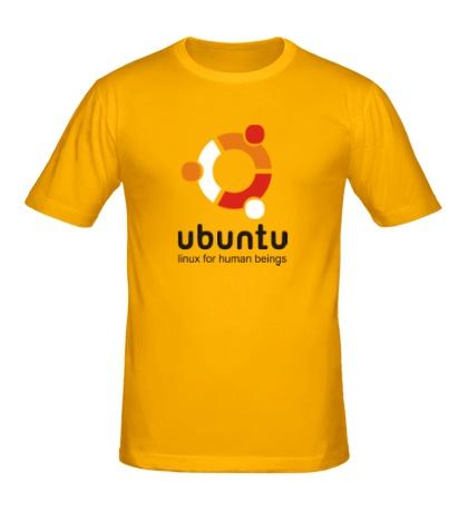 Мужская футболка Ubuntu for humans