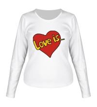 Женский лонгслив Love is