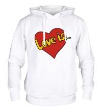 Толстовка с капюшоном Love is