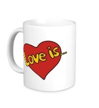 Керамическая кружка Love is