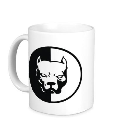 Керамическая кружка Pitbull Logo