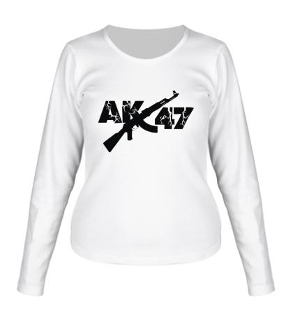 Женский лонгслив АК-47: русский рэп