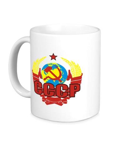 Керамическая кружка СССР символика