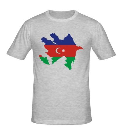 Мужская футболка Карта Азербайджана