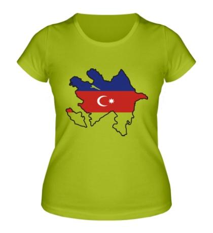 Женская футболка Карта Азербайджана