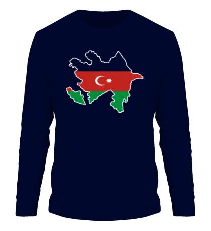 Мужской лонгслив Карта Азербайджана