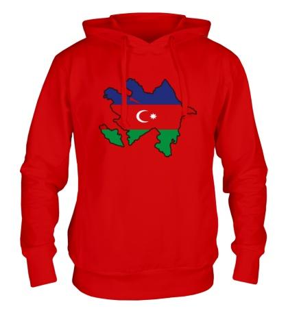 Толстовка с капюшоном Карта Азербайджана