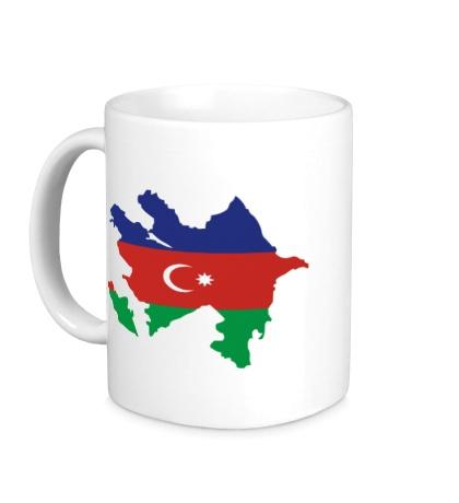 Керамическая кружка Карта Азербайджана