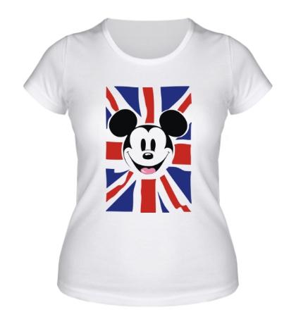 Женская футболка Британский Микки Маус