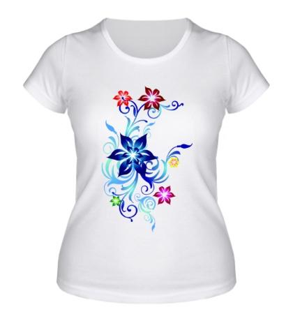 Женская футболка Цветы Пандоры