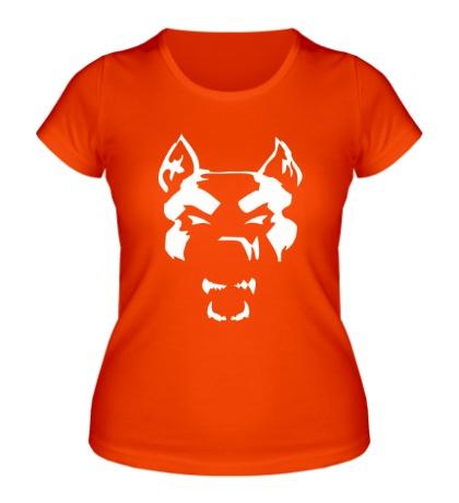 Женская футболка Злой пёс