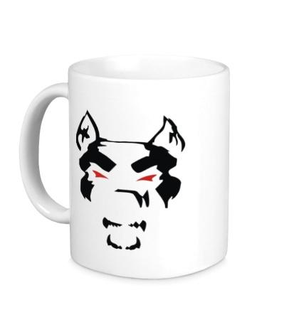 Керамическая кружка Злой пёс