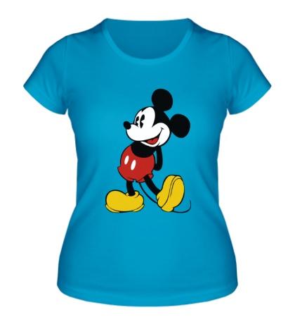 Женская футболка Застенчивый Микки Маус