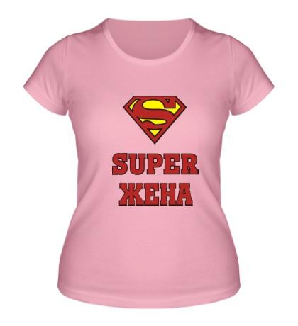 Женская футболка «Супер жена»