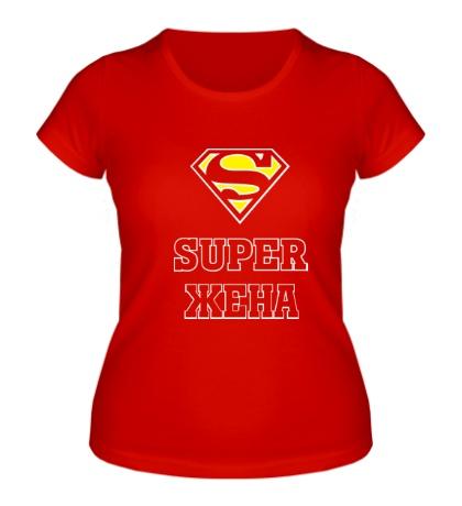 Женская футболка Супер жена