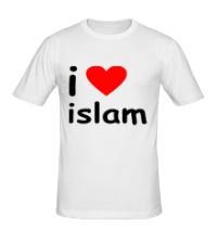 Мужская футболка I love islam