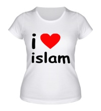 Женская футболка I love islam