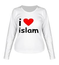 Женский лонгслив I love islam