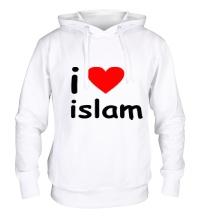 Толстовка с капюшоном I love islam