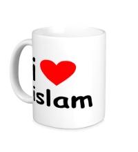 Керамическая кружка I love islam