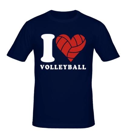 Мужская футболка I Love Volleyball