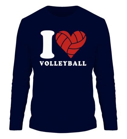 Мужской лонгслив I Love Volleyball
