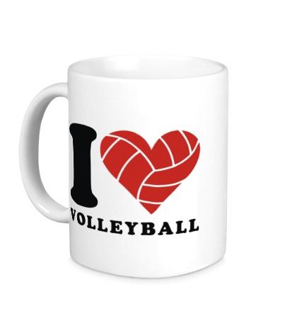 Керамическая кружка I Love Volleyball