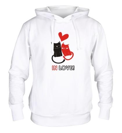 Толстовка с капюшоном «In love»