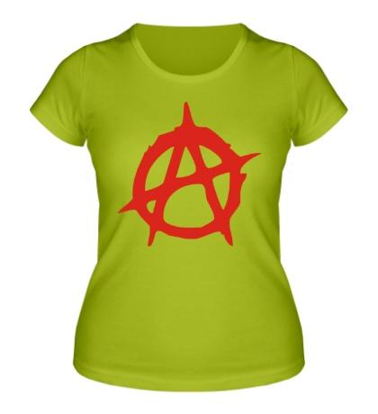 Женская футболка Символ Анархии