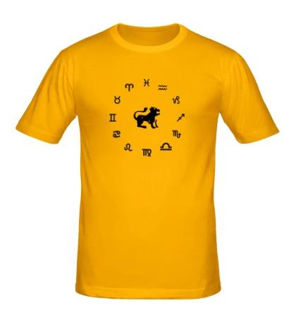 Мужская футболка Знак зодиака Лев