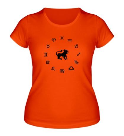Женская футболка Знак зодиака Лев