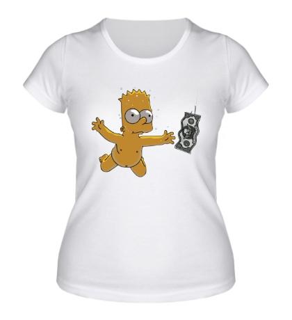 Женская футболка Барт с долларом