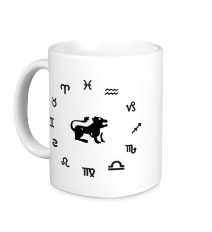 Керамическая кружка Знак зодиака Лев