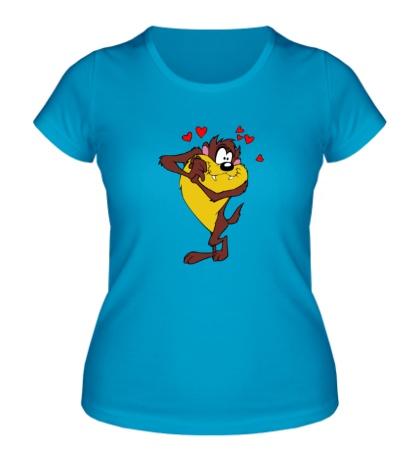 Женская футболка Влюбленный тасманский дьявол