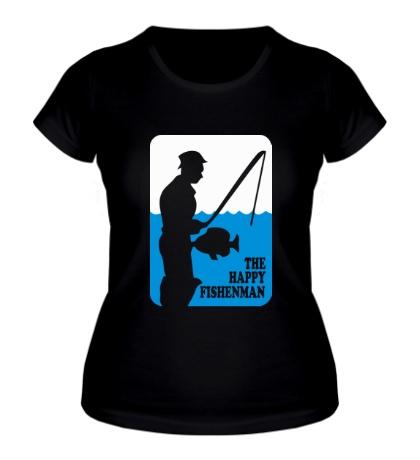 Женская футболка Счастливый рыбак