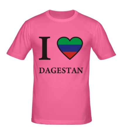 Мужская футболка I love Dagestan