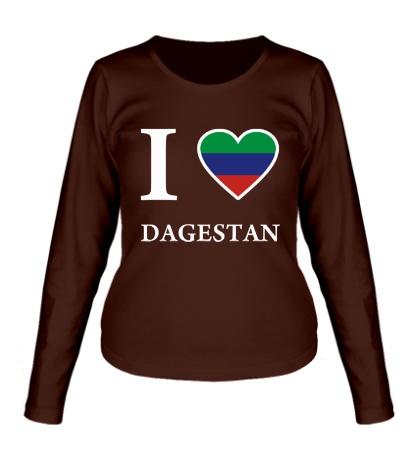 Женский лонгслив I love Dagestan
