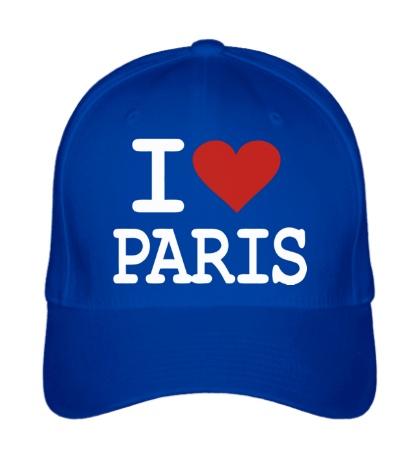 Бейсболка I love Paris